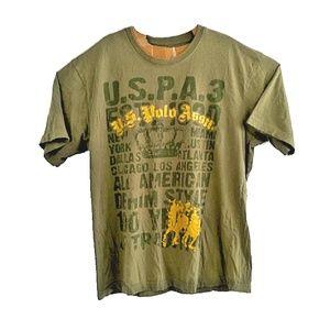 US Polo Assn Mens XL Green T Shirt Short Sleeves